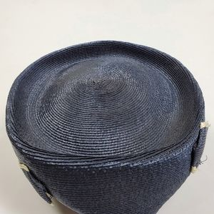 Vintage Accessories - Vintage Straw Pointed Pillbox Hat Gwen Pennington